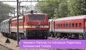 Western Railway to Introduce Paperless Unreserved Tickets