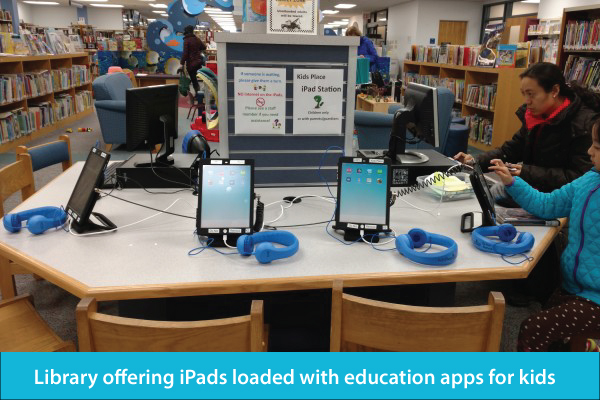 Library Offering iPads Loaded with Education Apps for Kids