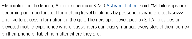 Air India Launches New Mobile App to Enhance Customer Experience