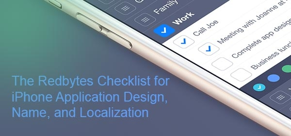 The Redbytes Checklist for iPhone Application Design, Name, and Localization