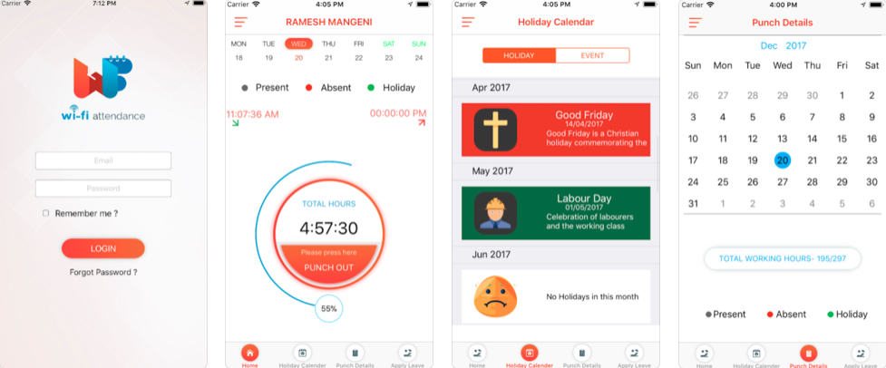 wifi attendance - employee attendance tracking apps