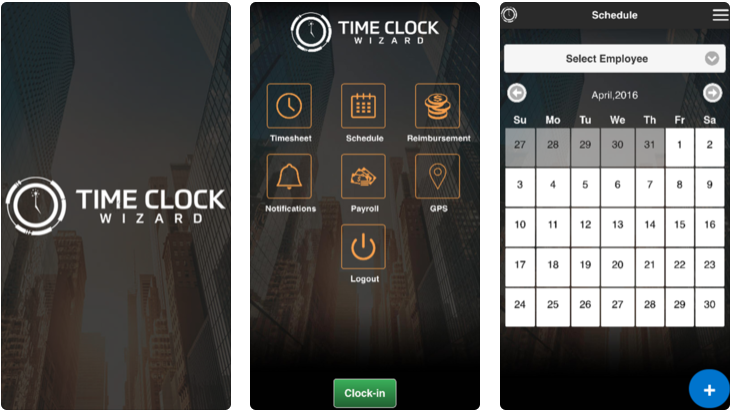 time clock wizard - employee attendance tracking apps