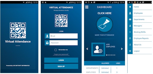 virtual attendance - employee attendance tracking apps