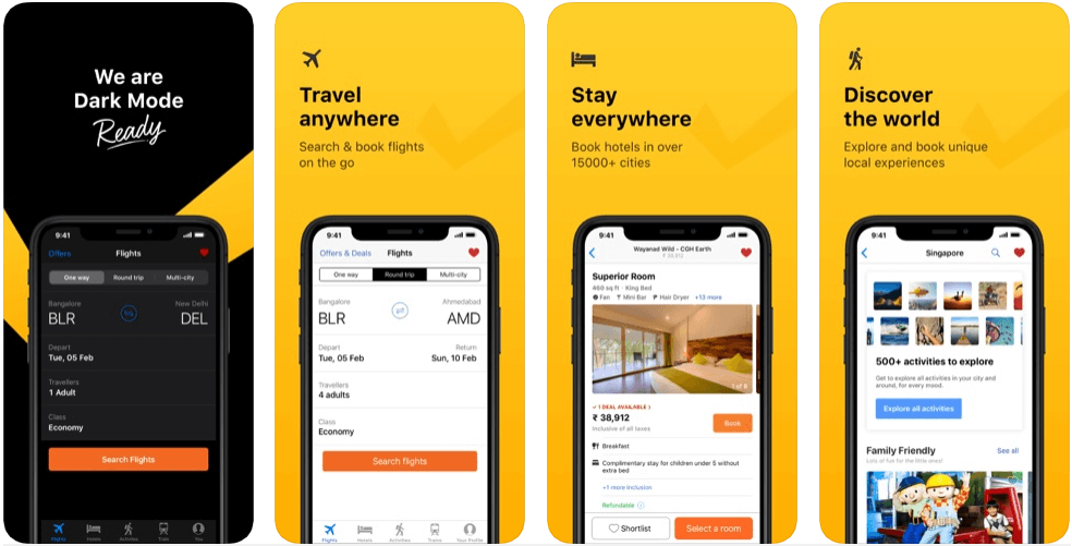 Clear trip - hotel booking apps