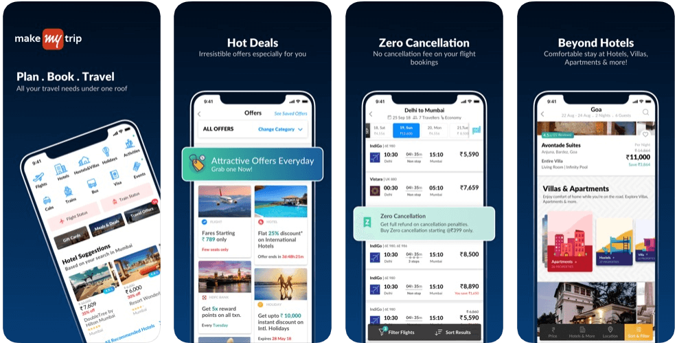 Makemytrip - hotel booking apps