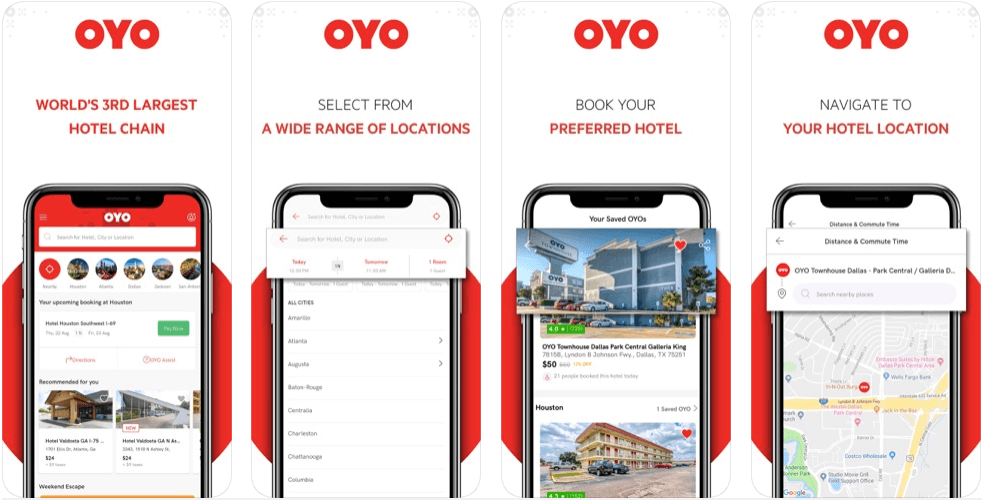OYO - hotel booking apps