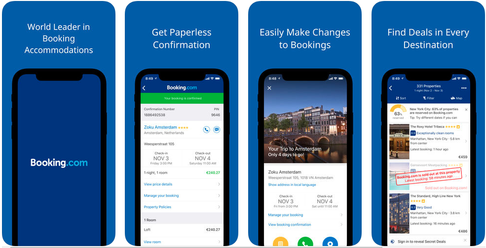 hotel booking apps