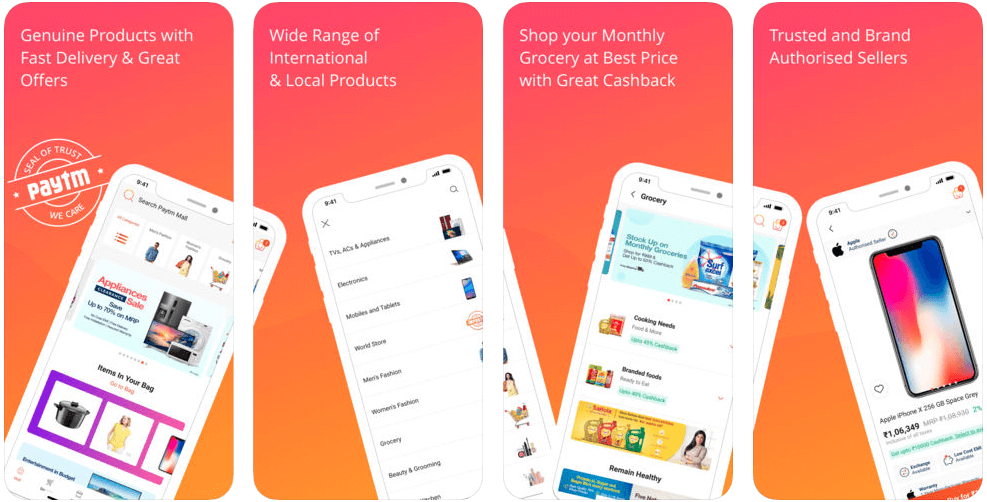 9d27c9e66e With a net worth of 30.46 Mn, Paytm mall is growing forward to be one of  the leading e-commerce industry served in India. shopping apps