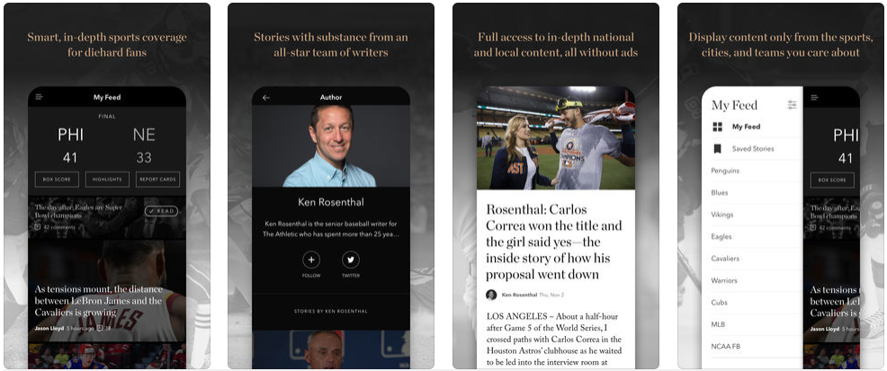 the athletic - sports apps