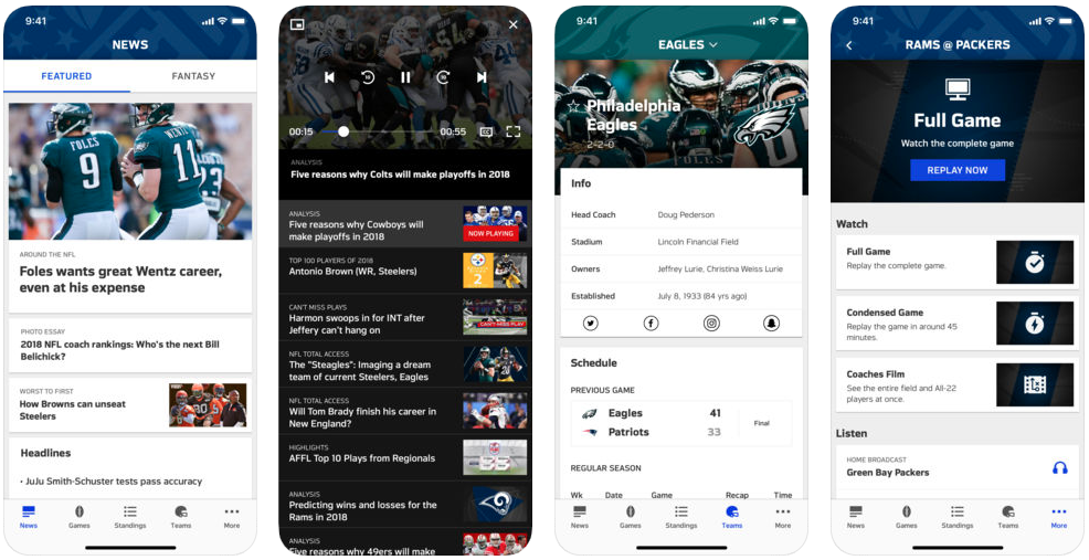NFL - sports apps