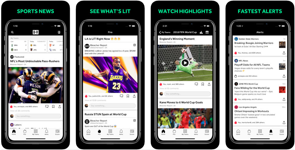 Bleacher report - sports apps