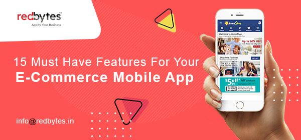 ecommerce mobile app features