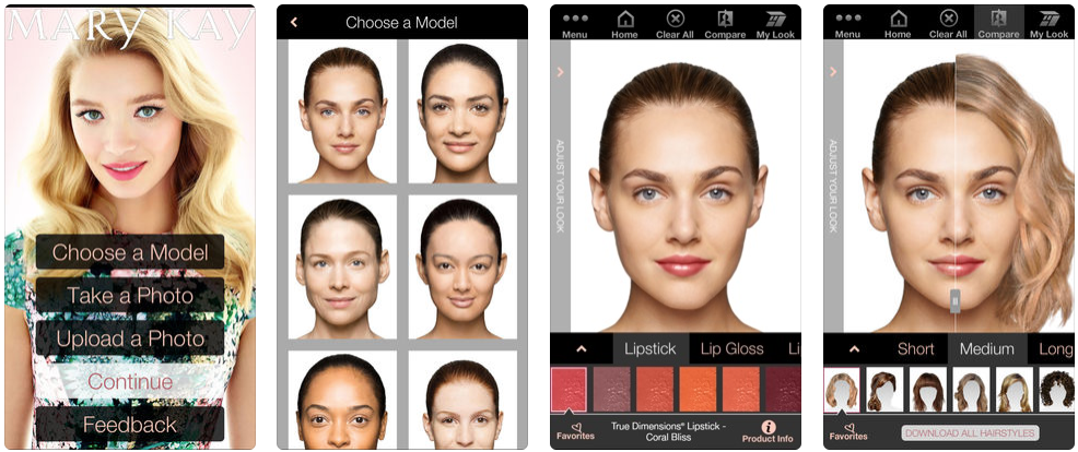 Mary Kay Mobile Virtual Makeover - beauty app