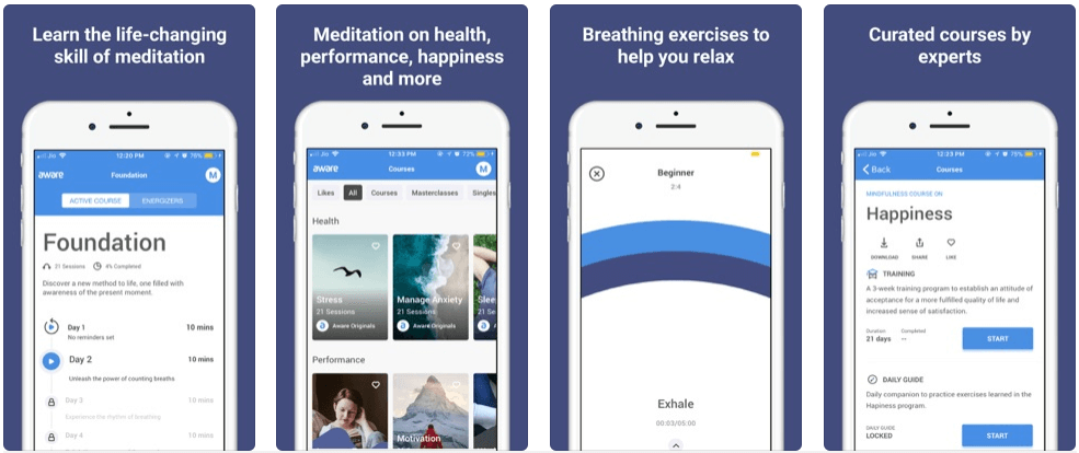 Aware - meditation apps