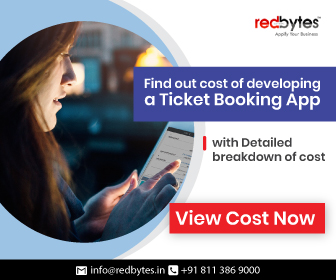 ticket booking app cost