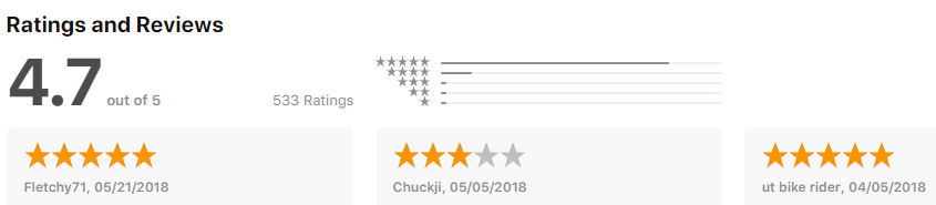 Komoot - rating