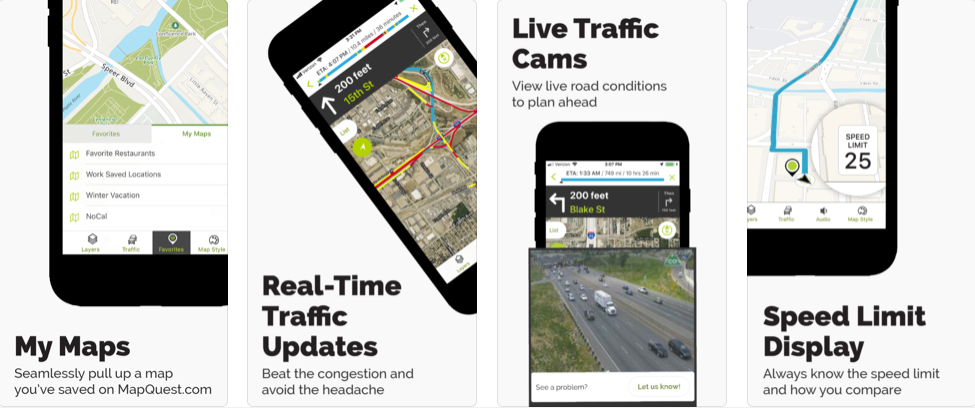 Mapquest - navigation apps