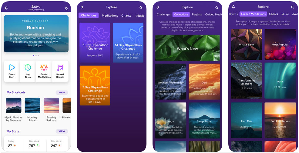 Sattva Meditations & Mantras - meditation apps