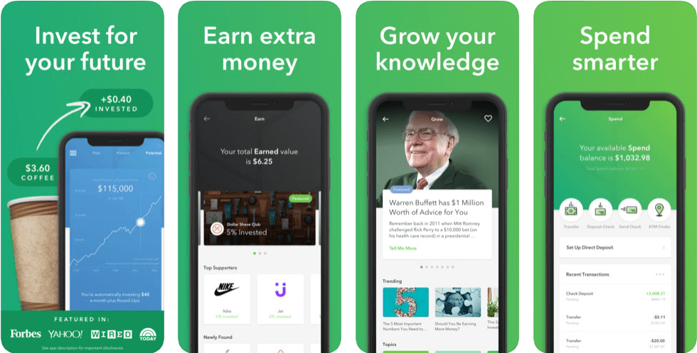 Acorns - finance apps