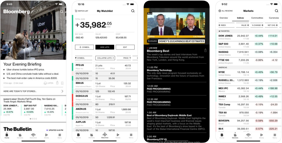 Bloomberg - react native app