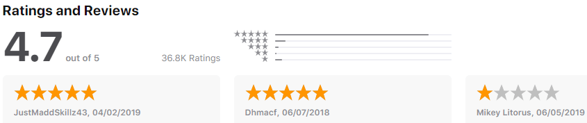 Chime - rating - finance apps