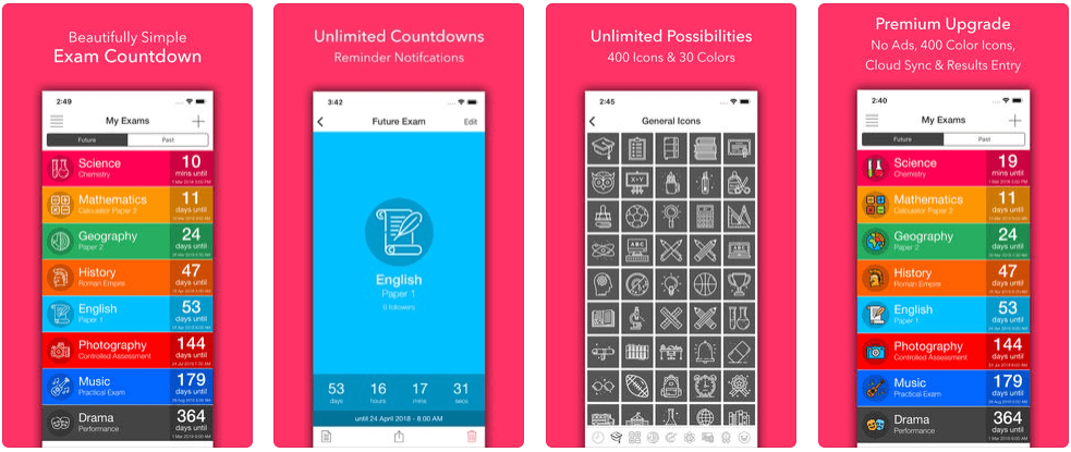Exam Counting - apps for college students