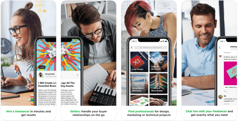 Fiverr - on demand apps