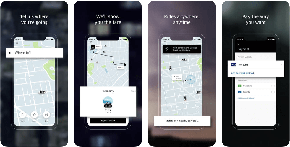 Uber - on demand apps