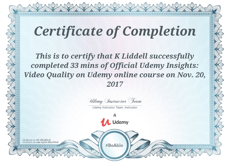 udemy certificate -cost to create an app like udemy