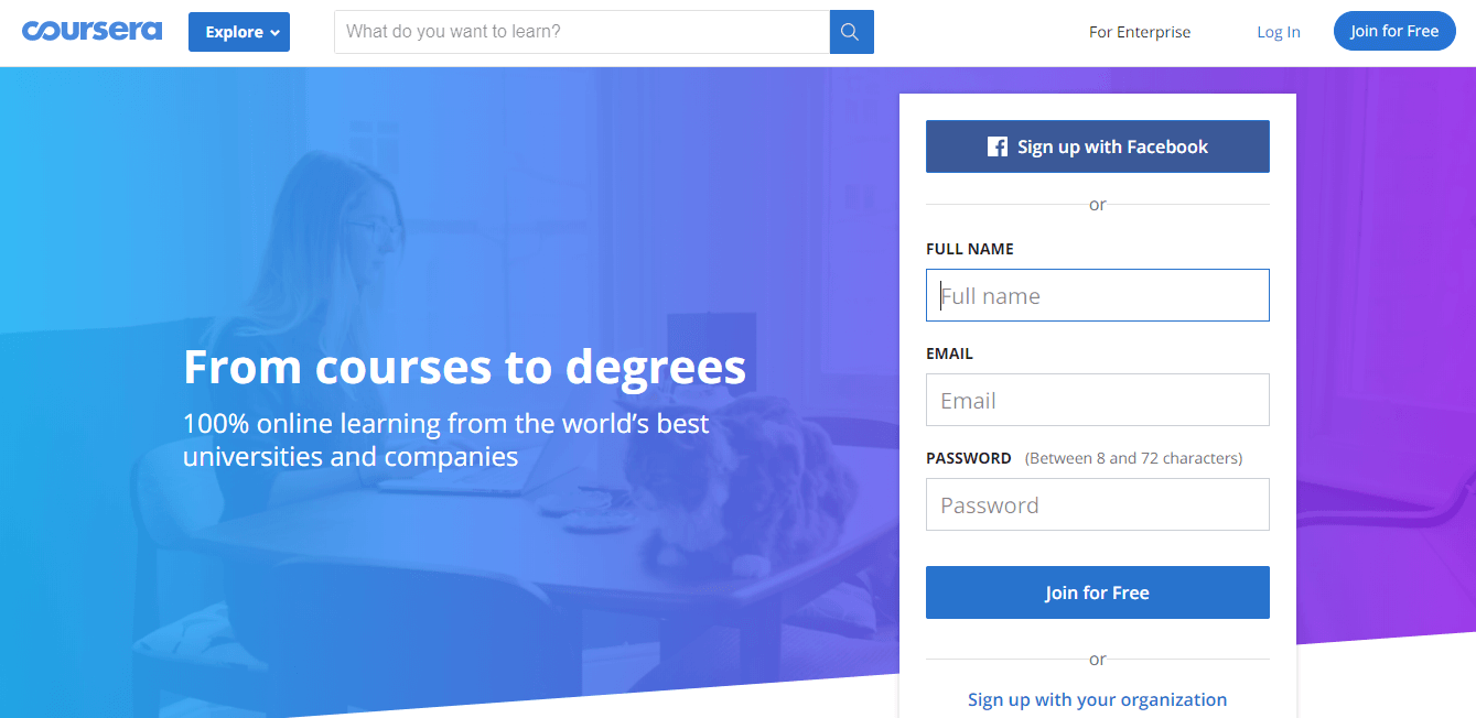 build elearning platform like coursera