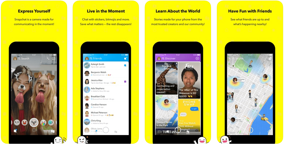 Snap chat - messaging apps