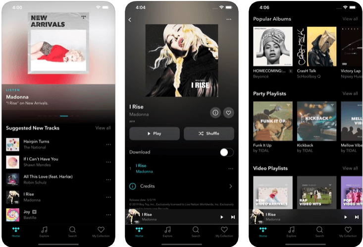 Tidal - music apps