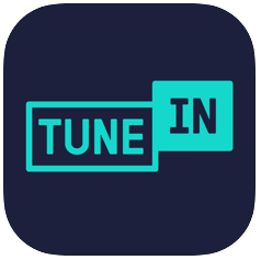 tunein radio - free music player apps