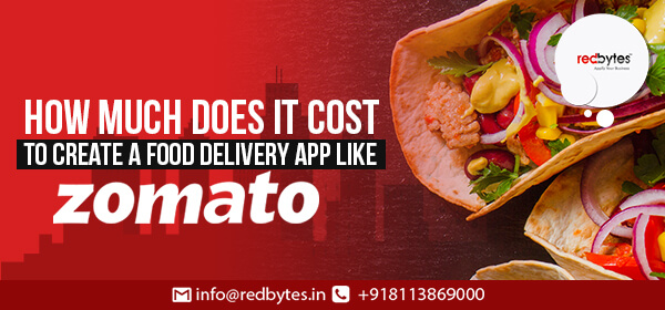 cost to create an app like zomato
