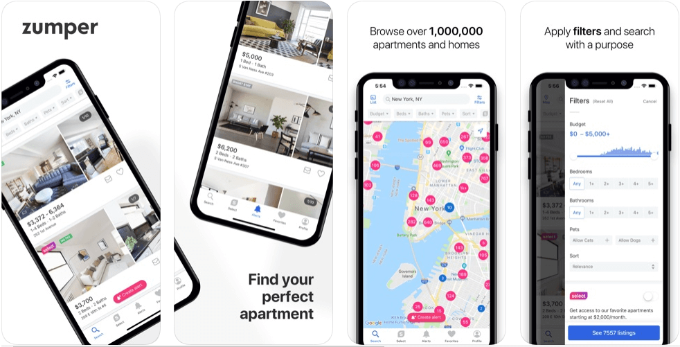 Zumper - real estate apps
