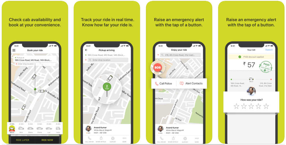 ola app features