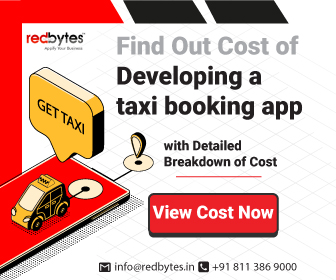 taxi booking app cost