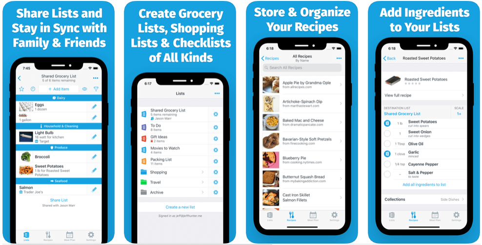 AnyList - online grocery shopping apps