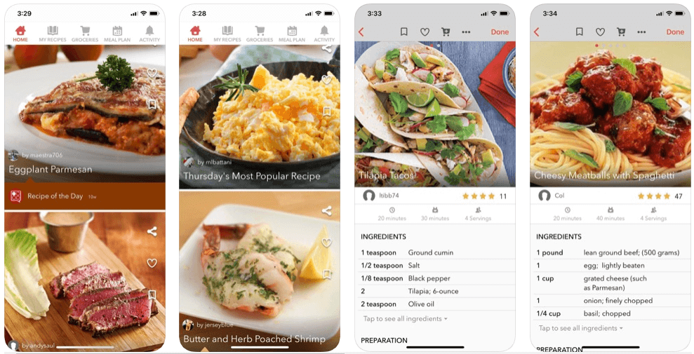 BigOven - online grocery shopping apps